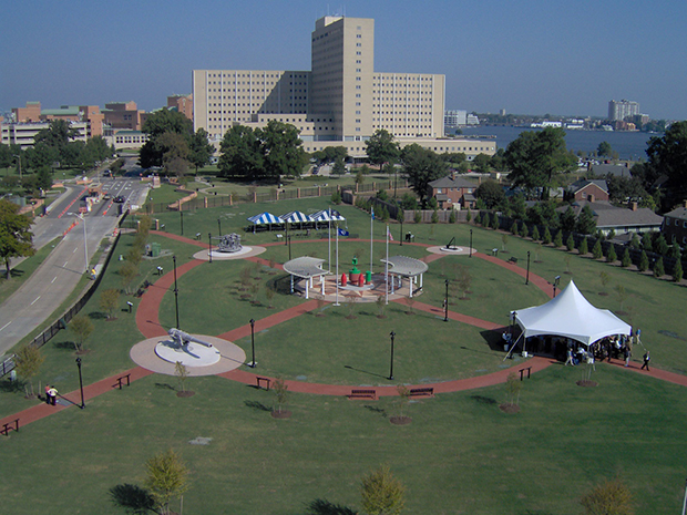 Fort Nelson Park, dedicated in 2006, occupies the site of a  former manufactured gas plant in Portsmouth, Virginia.  Military artifacts dot the park to highlight the area's local history.