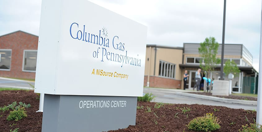 Columbia Gas of Pennsylvania Operations Center building sign outside