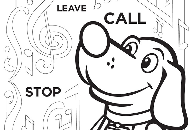 Digger Dog coloring activity sheets