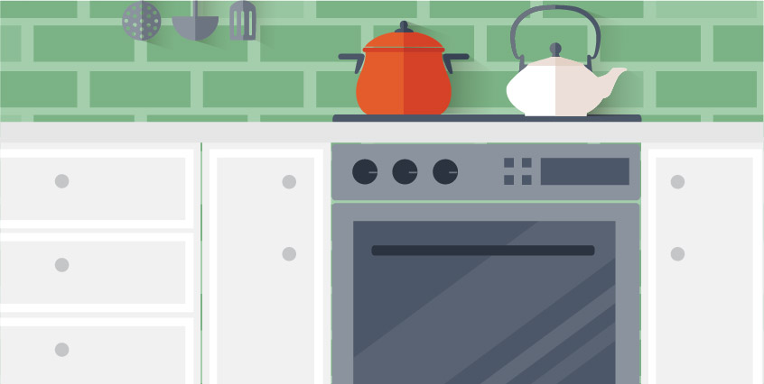 Make sure your natural gas kitchen appliances are connected and working properly
