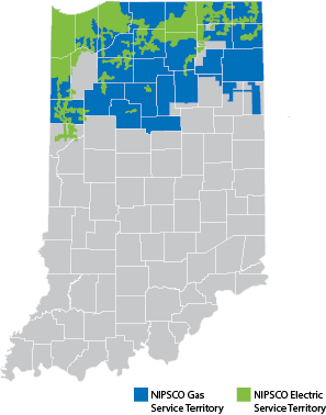 Indiana Service Territory Map