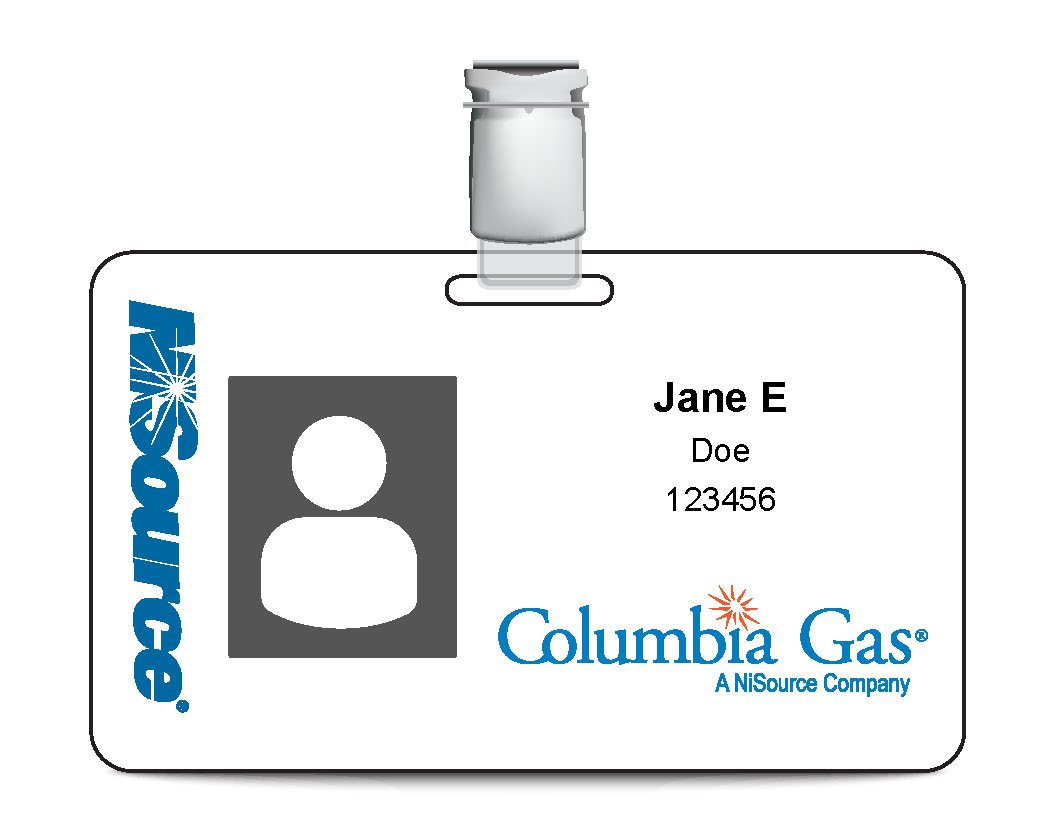 Columbia Gas ID Badge